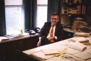 Frank Heger at his desk.