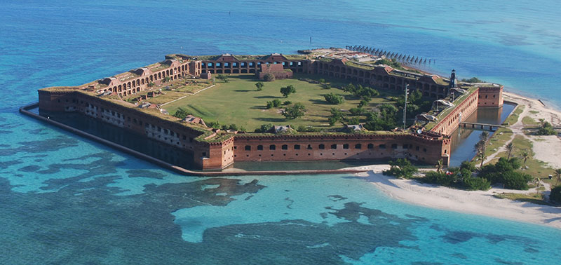 Figure 1: Fort Jefferson, in the Dry Tortugas, is in a serenely ...