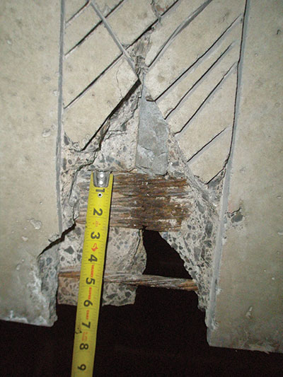 Structure magazine repairs to prestressed strands in for Stem concrete