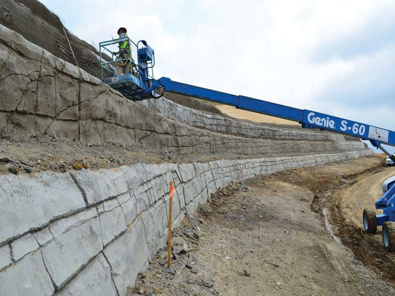 Structure magazine the complexities of a simple line for Soil nail wall