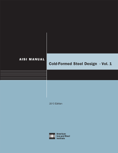 STRUCTURE magazine | AISI Cold-Formed Steel Design Manual