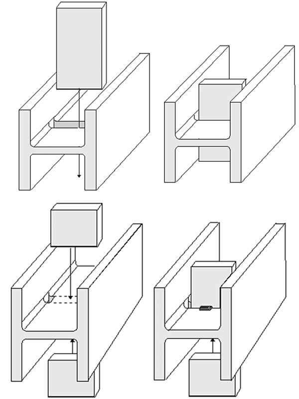 stiffener plate topology for esw-ng welding that does not required 180  degree rotation of the girder  wire guides pass through pre-fabricated  slots in web
