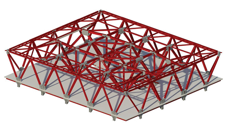 Structure Magazine Hat Truss Supported Office Tower In