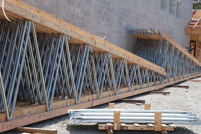 Structure magazine long span open web trusses for Open web floor joists
