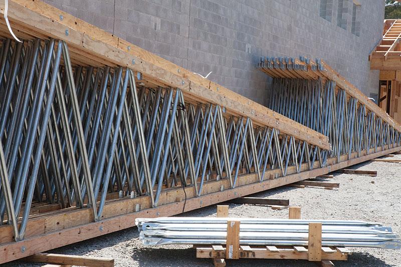 Structure magazine long span open web trusses for Open web trusses