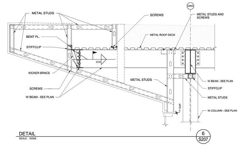 metal stud framing details sombrero light gauge framing detail metal stud details - Metal Stud Framing Details