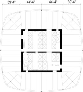 Figure 3. Typical low-rise structural floor plan.