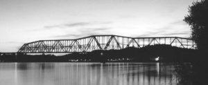 Sciotoville Bridge (color postcard author's collection).