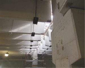 Figure 6. Installed shoring from below.