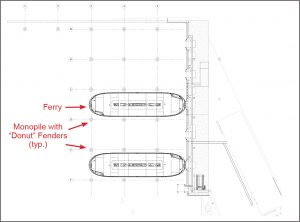 Figure 2. Structural site plan – new workdocks configuration.
