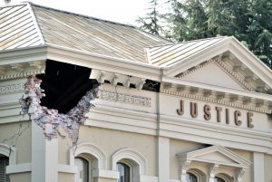 Figure 6. Napa County Superior Court building following the 2014 South Napa earthquake.