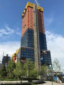 Figure 8. 55 Hudson Yards tower under construction as of May 2017.