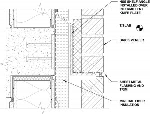 Figure 2. Typical application of brick and rigid insulation.