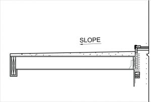 Figure 4. Slope obtained with finish topping.