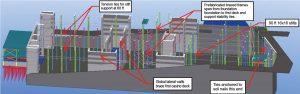 Figure 2. HD BIM model of 90-foot tall early walls.