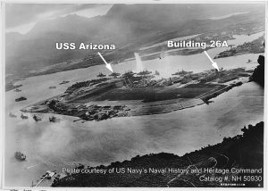 Figure 1. Pearl Harbor under attack on December 7, 1941, taken by a Japanese plane.