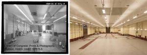 Figure 2. Building 26A original interior (left) and current interior (right).