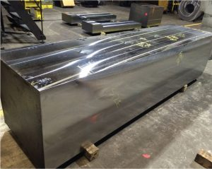 Figure 2. Machined high strength cast steel rectangular block for highly-stressed multi-directional connection nodes.