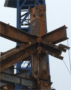 Figure 3. High strength cast steel rectangular block installed in a high-rise in New York City. Courtesy of Juan Estevez, Tishman Construction.