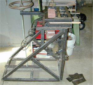 Figure 1. Laboratory flexural bond testing apparatus.