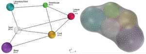 Application of sphere packing as a form-finding strategy for inflatable Moon exploration habitats.