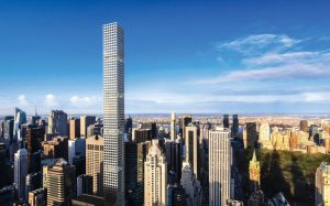 Located within blocks of New York's Central Park, 432 Park Avenue is more than twice the height of any of its nearby neighbors, leaving the upper portion of the structure fully exposed to the wind.