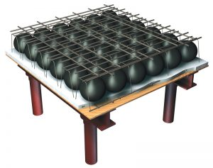 Figure 1. Flat plate voided concrete slab system.