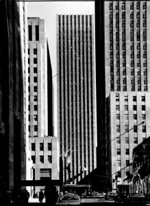 Figure 1. 75 Rockefeller Plaza seen looking north from the ice skating rink.