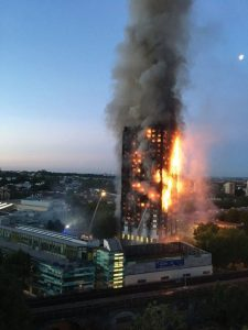 Figure 1. The Grenfell Tower (London) fire. Courtesy of Getty.