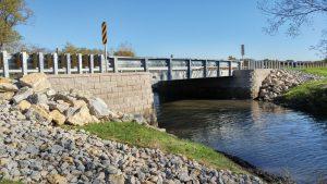 The completed CTH KW Bridge over Pratt Creek.