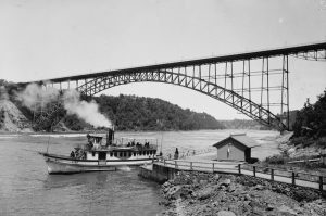 Completed Niagara-Clifton Steel Arch Bridge. Courtesy of HAER.
