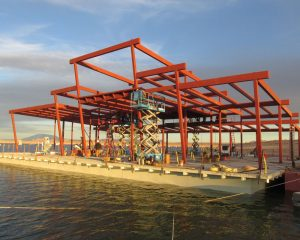 Figure 1. Structural steel framing for the Wahweap Marina Store.
