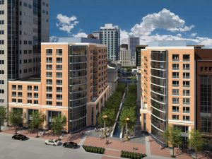 Figure 1. Two residential buildings at City Creek Center. Courtesy of ZGF Architects.