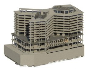 Figure 1. CCDC Hotel structure.