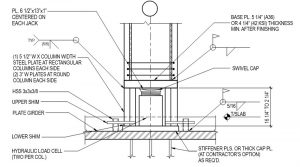 Figure 4. Column jacking details.
