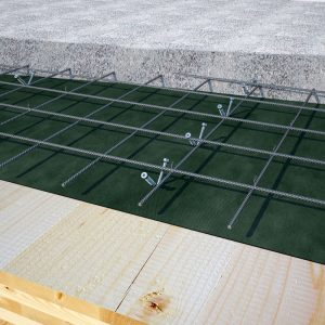 Figure 5. Timber-concrete composite floors made using Rothoblaas CTC timber fasteners. Courtesy of Rothoblaas.