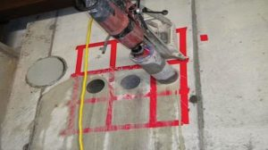 Figure 1. An example of core- drilling of a concrete floor.